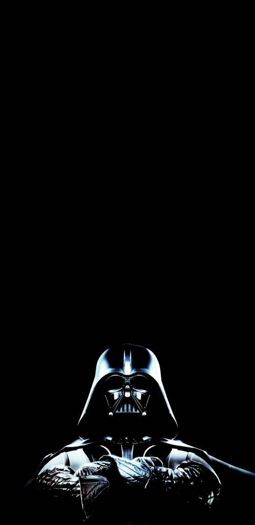 Wallpaper Star Wars Amoled Oled Darth Vader Millennium Falcon Background Download Free Image